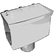 FloPlast PVCu Hopper for 110mm Pipe