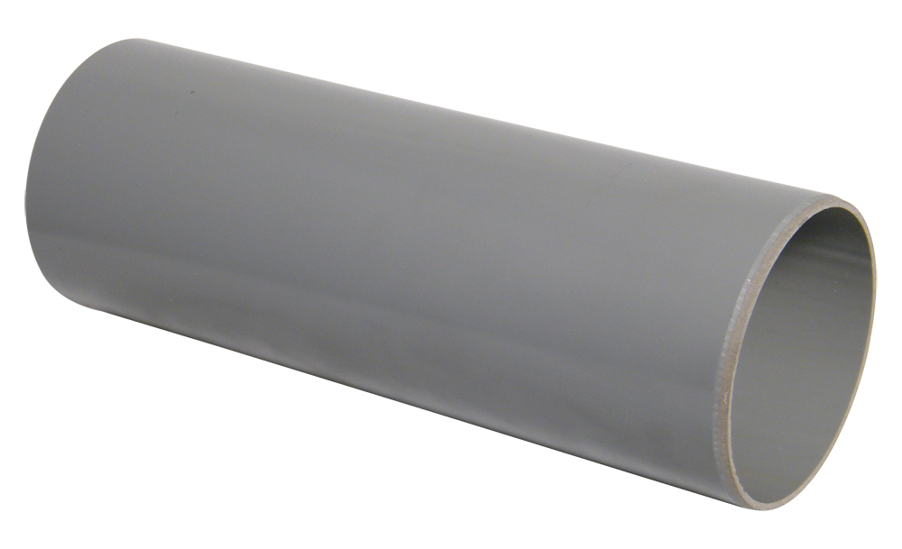 FloPlast 110mm Soil Pipe Plain End 3Mtr