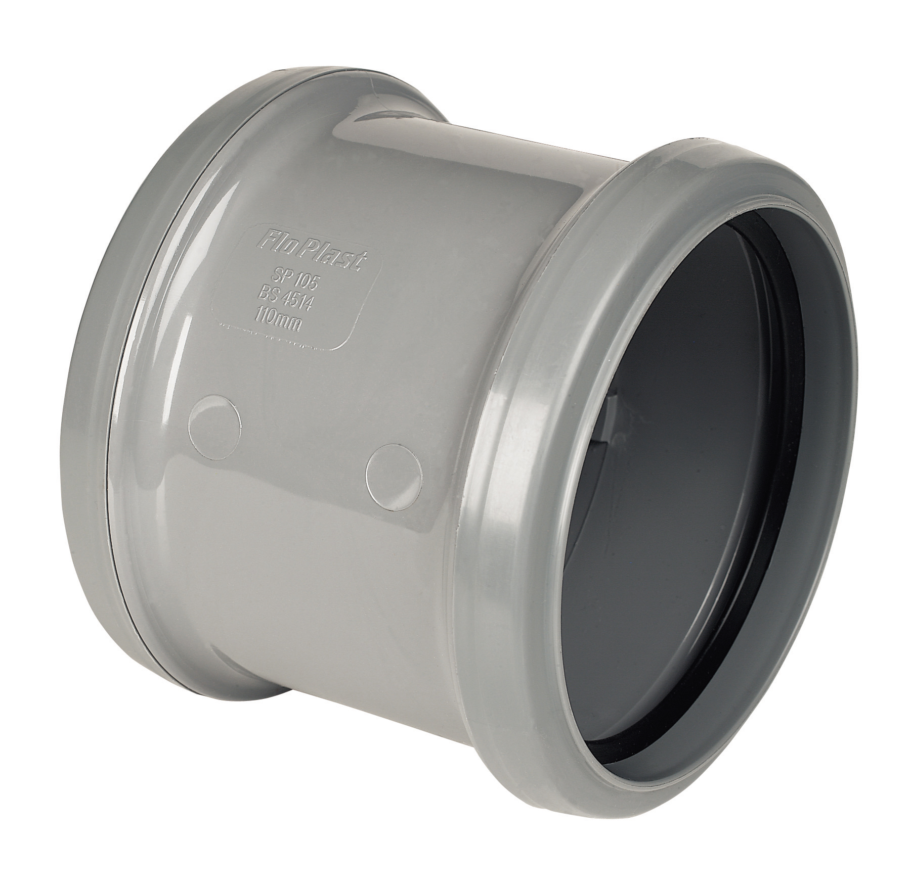 FloPlast 110mm Soil Pipe Double Socket Coupling