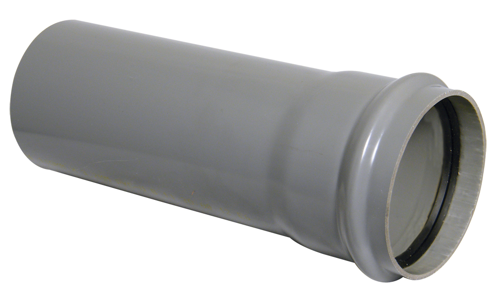 FloPlast 110mm Soil Pipe Single Socket 3Mtr