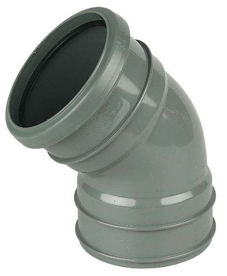 FloPlast 110mm Soil Pipe 135° Offset Bend - Top