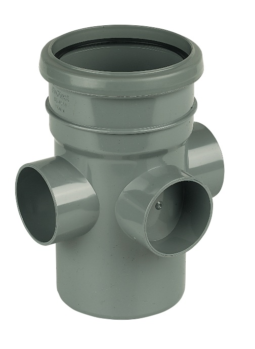 FloPlast 110mm Soil Boss Pipe Section
